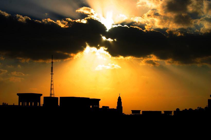 sunset-from-my-balcon-ruwais