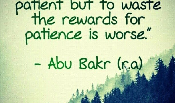 Be patience
