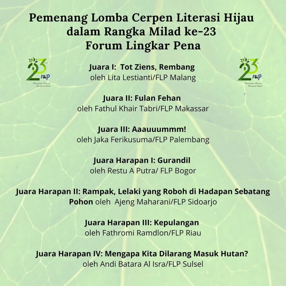 Lomba Cerpen Milad ke-23 Forum Lingkar Pena
